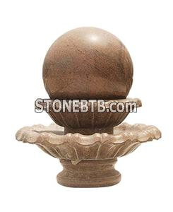Natural stone sphere ball fountains
