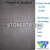 EG90 Nordland Basalt Black Basalt Flamed and Brush