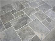 Silver Travertine Pattern Sets