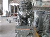 Green Jadeite Stone Lion sculpture