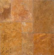Golden Sienna Travertine - Versailles Pattern