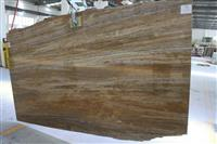 Golden Silver Travertine Slab