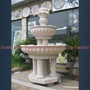 outdoor water spray granite fountain