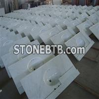 China White Marble Bath Top