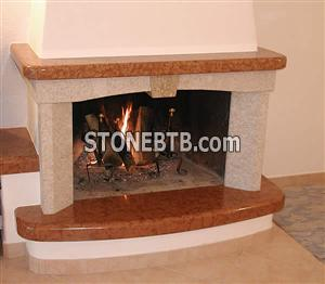 Red Marble Fireplaces