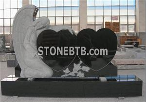 DL Double Heart Black Monument