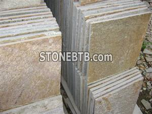P014, Yellow Wood Slate Tile