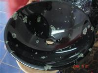 Black Marble sink, stone basin,GS01