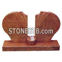 Red Granite Tombstone 2