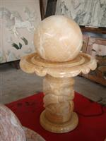Yellow Marble Fountain Ball