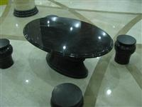 Black Granite Table and Chairs
