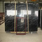 White Strip in Black Marble Slab
