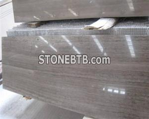 Wooden Grey Marble Tiles,Slabs