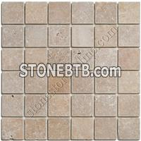 Tumbled Noce Travertine Mosaic